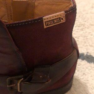 PIKOLINOS Shoes - Pikolinos Ordino Buckle Booties in Garnet